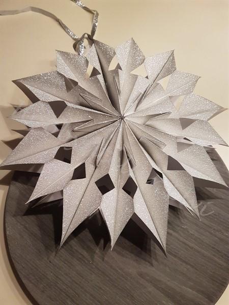 Kerst: Kerstster Glitter zilver